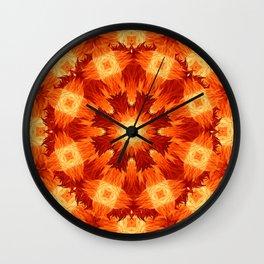 Fire Storm Mandala Wall Clock