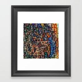 Wolf Puter Framed Art Print