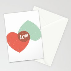 Two lovely hearts Stationery Cards
