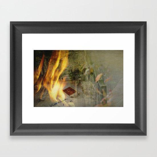 Silence of memory Framed Art Print