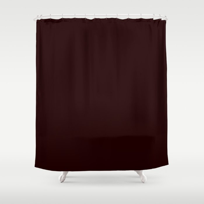Delirious Place ~ Dark Red-brown Shower Curtain
