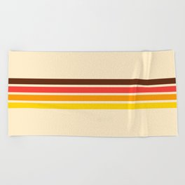 African Retro Stripes Beach Towel