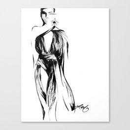 YSL Fashion Sketch Canvas Print