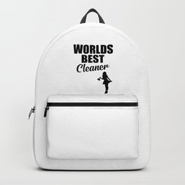 Worlds best cleaner funny quote Backpack