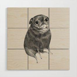 Sweet Black Pug Wood Wall Art