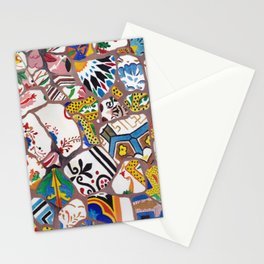 Gaudi tiles Barcelona Stationery Cards