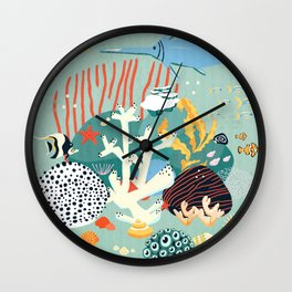 The coral reef Wall Clock