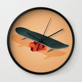 Rolling and trolling Wall Clock