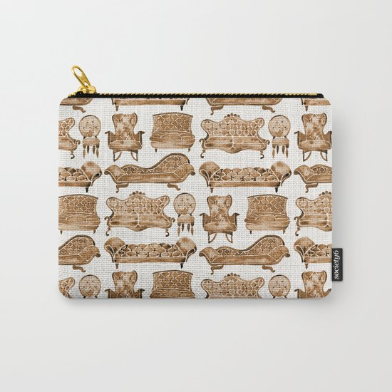Victorian Lounge – Sepia Palette Carry-All Pouch