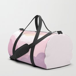 Minimal abstract landscape 01 Duffle Bag
