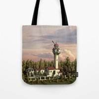 astronomy Tote Bags featuring Astronomy tower by Alexander Atkishkin