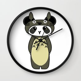 Panda in TotoroCosplay Wall Clock