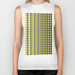 Lines and Squares Biker Tank