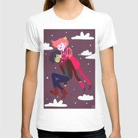 gumball T-shirts featuring Cheek Meat: Prince Gumball and Marshall Lee Fanart by theicarustheory