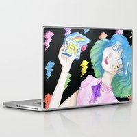 video games Laptop & iPad Skins featuring vidja games by Caitlin Roberts