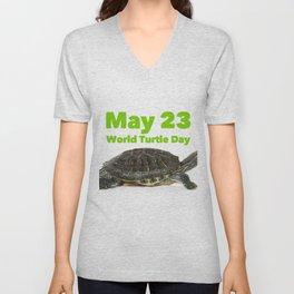 World Turtle Day - May 23 Unisex V-Neck