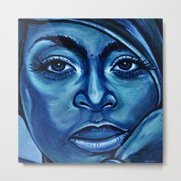 erykah?!../alternative-blue/ Metal Print