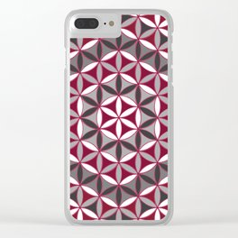 Flower of Life Red Grey Clear iPhone Case