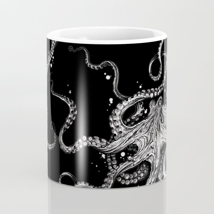 Octopus (black) Coffee Mug