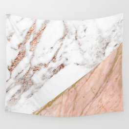 Marble rose gold blended Wall Tapestry