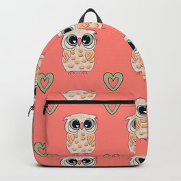 Owl Always Love You-coral background Backpack