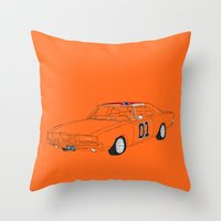 general Throw Pillows featuring General Lee by Martin Lucas