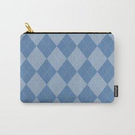 Blue diamond Checks pattern Carry-All Pouch