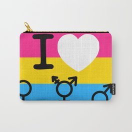 I Heart Pansexuality Inverted Carry-All Pouch