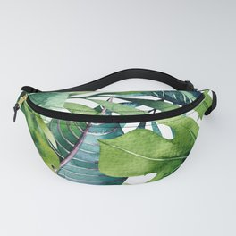 Tropical Jungle Leaves Fanny Pack