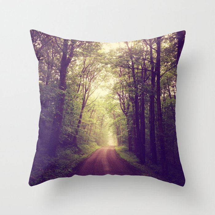 The Sound of Fog Coming Down Throw Pillow