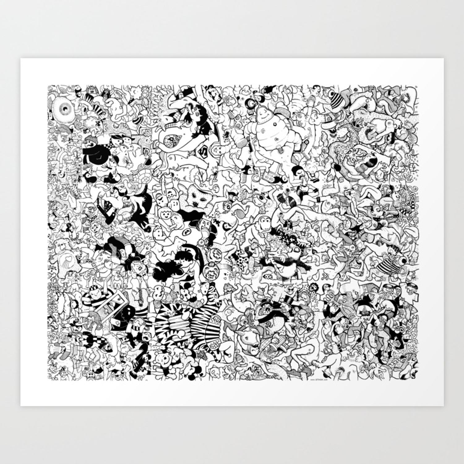 giant coloring poster : orgy Art Print