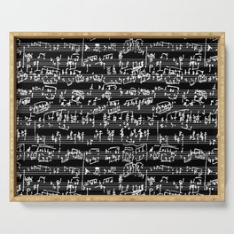 Hand Written Sheet Music // Black Serving Tray