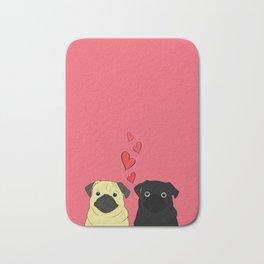 Pugs In Love Pink Bath Mat