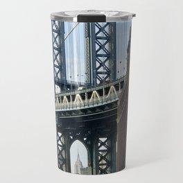 Brooklyn Bridge & Empire State Building Travel Mug