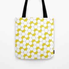 Yellow Hexagon pattern #1 Tote Bag