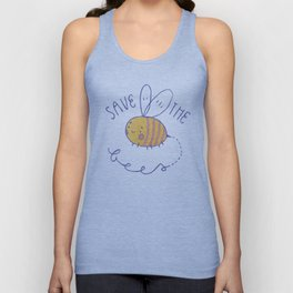 save the bees! Unisex Tank Top