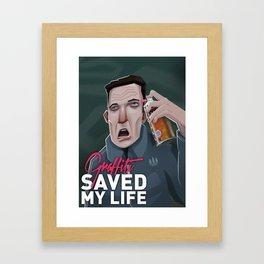 Graffiti saved my life Framed Art Print