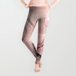 Retro Pelican Vintage old style illustration Leggings