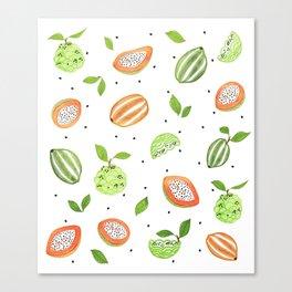 Papaya & Custard Apple Canvas Print