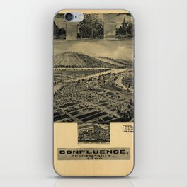 Aerial View of Confluence, Pennsylvania (1905) iPhone Skin