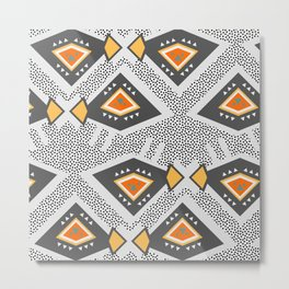 Dotted ethnic pattern Metal Print