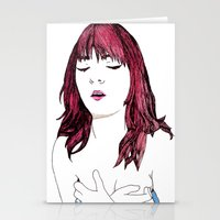 redhead Stationery Cards featuring Redhead by Margret Stewart