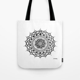Courage Zendala Tote Bag