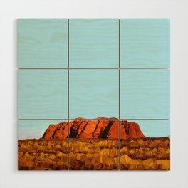 uluru polygon Wood Wall Art