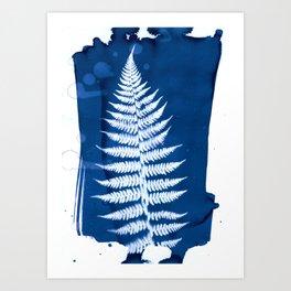 Fern I - Cyanotype Art Print