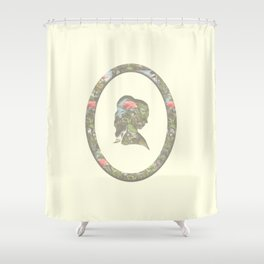 floral silhouette Shower Curtain