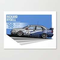 emily rickard Canvas Prints featuring Rickard Rydell - 1998 Thruxton by Evan DeCiren