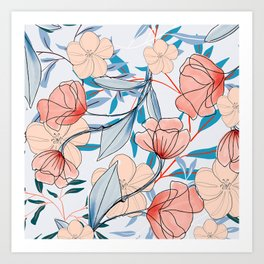 artistic poppies Art Print