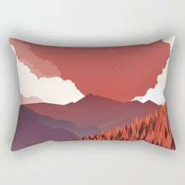 Alone In Nature - RedSky Rectangular Pillow
