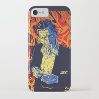 johnny cash iPhone & iPod Cases featuring Johnny Cash by Rich Anderson